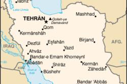Mappa dell'Iran (WikiMedia)