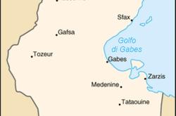 Mappa della Tunisia (WikiMedia)