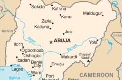 Mappa della Nigeria (WikiMedia)