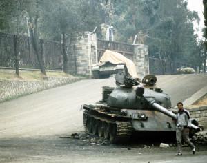 Carrarmato etiope alla fine della guerra civile etiope