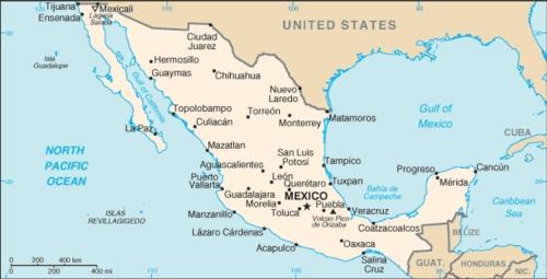 Cartina Del Messico Politica.Messico Vie Di Fuga