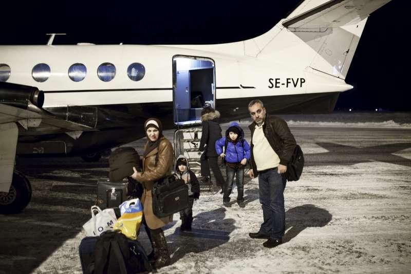 Famiglia reinsediata in Svezia