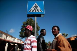 Migranti africani nel centro di accoglienza di Mineo, il 27 gennaio 2014. - Tony Gentile, Reuters/Contrasto