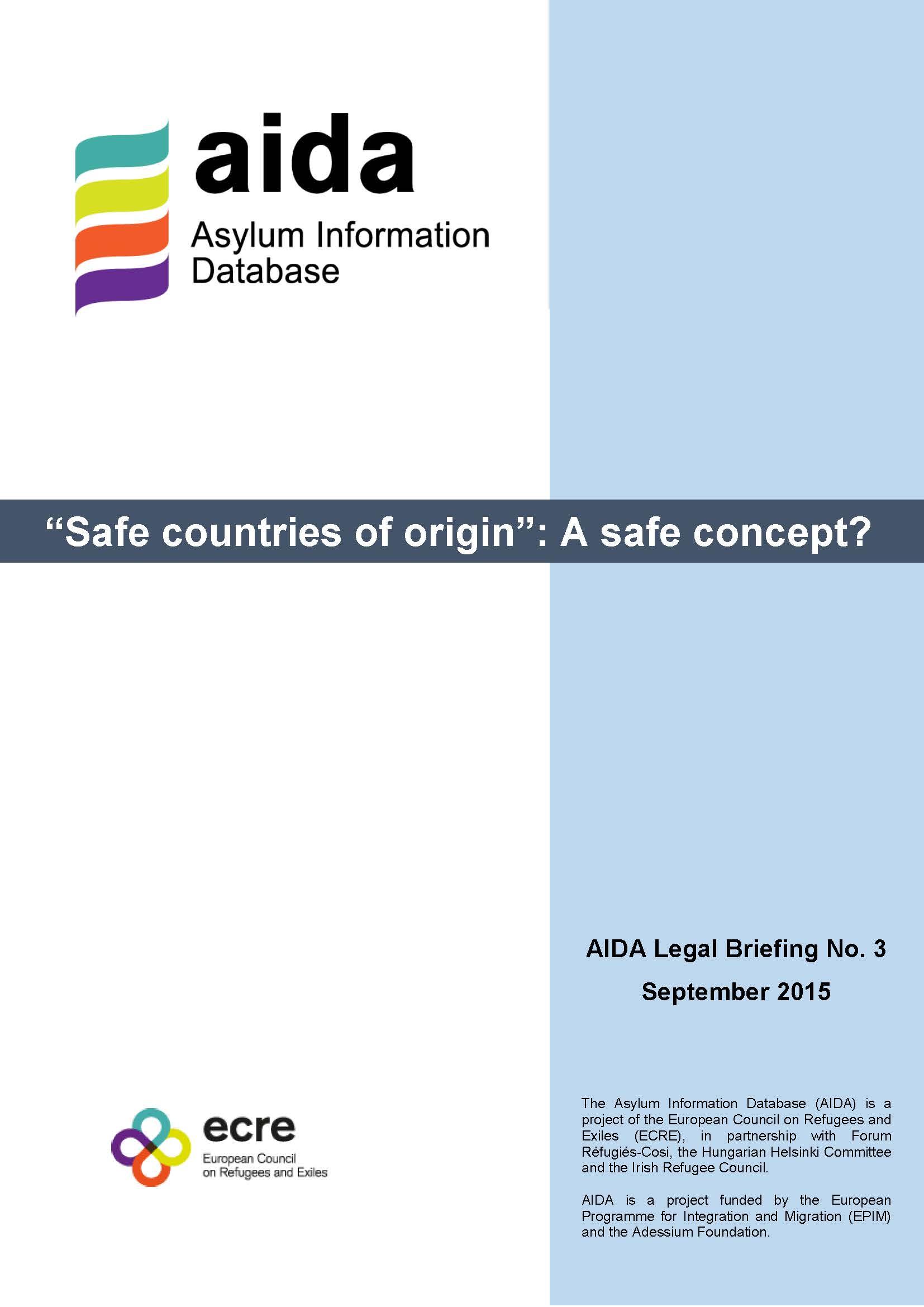 AIDA_Legal Briefing_Safe Country of Origin_9_2015