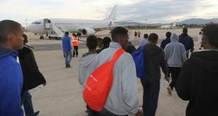 Ottobre 2015: richiedenti asilo in partenza da Ciampino.