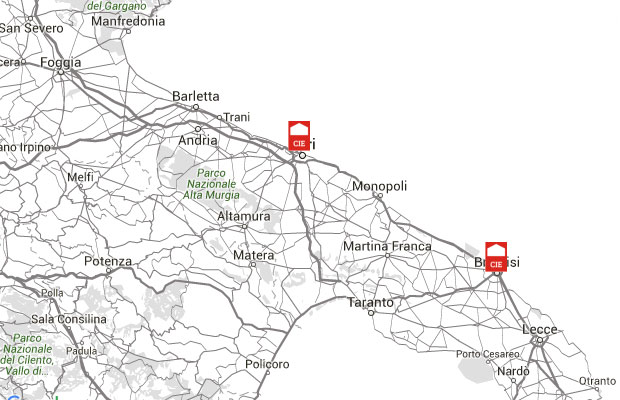 I CIE in Puglia (fonte Osservatorio accoglienza e detenzione migranti Puglia).