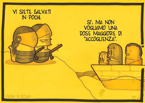 "Vignetta ""SPOT TROPPO HOT"" by Simone ""Rouge"" Rossoni"
