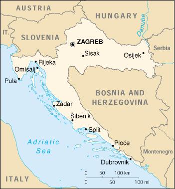 Cartina Della Slovenia E Croazia.Cartina Geografica Croazia E Slovenia